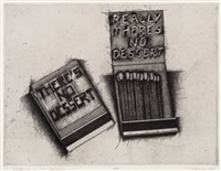 really there's no dessert (matchbook series) by richard prince