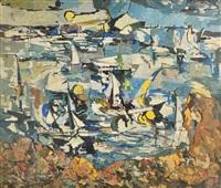 abstract sail boats by nathan dunn