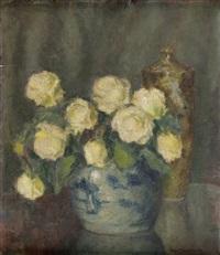 róże w wazonie by stefan filipkiewicz