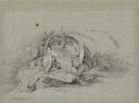 an overturned basket of wild flowers by jean baptiste oudry