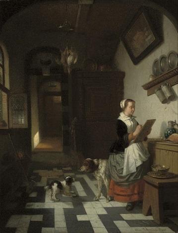 morning chores by adrien ferdinand de braekeleer