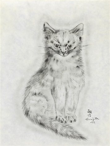 messalina from a book of cats by léonard tsuguharu foujita