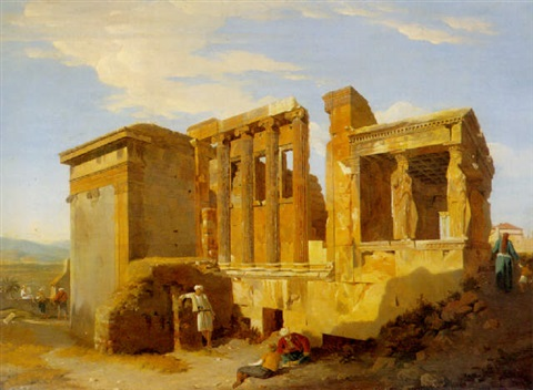 the temple of erechtheus athens by sir charles lock eastlake