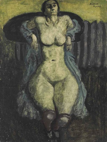 nude with stockings by milton avery
