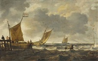 marine par grand vent by bonaventura peeters the elder