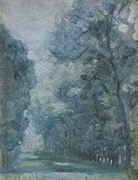 allée d'arbres by maria vasilevna jakunchikova
