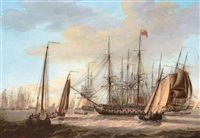 the british fleet off the dutch coast by engel hoogerheyden