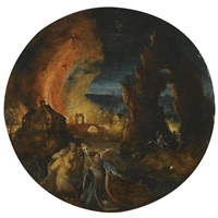 the temptation of saint anthony by herri met de bles