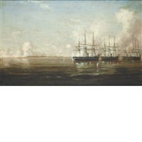 bombardment and capture of fort hatteras, nc, august 29 1861 by xanthus russell smith
