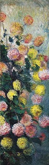 dahlias by claude monet