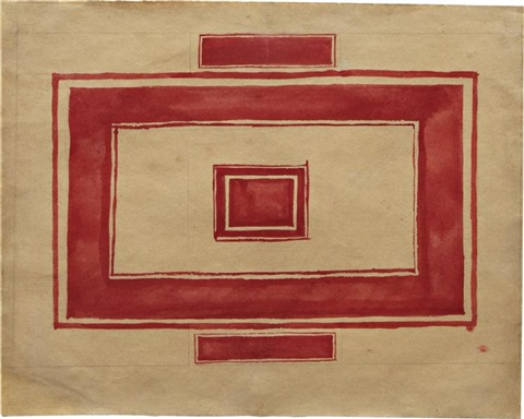 ceiling plan for the red theater leningrad by kazimir malevich