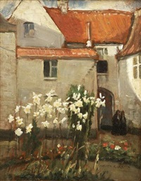 madonna lilies by norman garstin