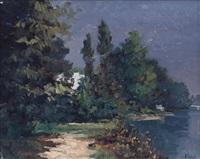 rive del po in autunno by dino aliberti