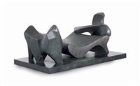 three piece reclining figure no. 2 (bridge prop) by henry moore