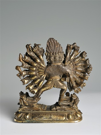 a bronze figure of vajrabhairavabrtibet 18th century height 14 cm