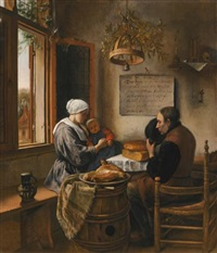 the prayer before the meal by jan steen