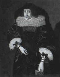 portrait of a lady (countess of suffolk?) by gilbert jackson