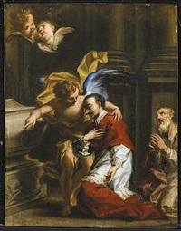 san carlo borromeo confortato da un angelo by francesco caccianiga
