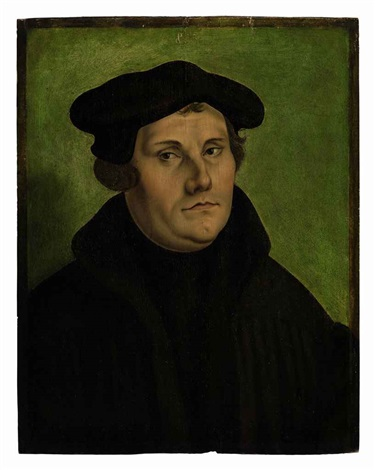 portrait of martin luther by georg pencz