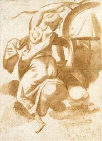 figure féminine plafonnante by giuseppe (salviati) porta