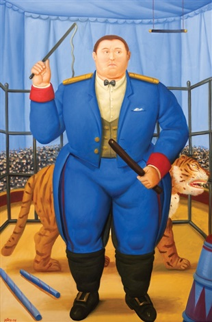 trainer by fernando botero