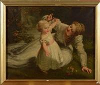 les premiers pas de l'enfant avec sa mère by james sant
