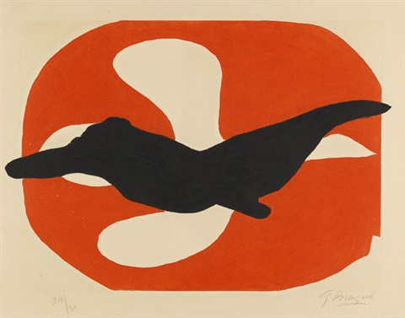 l'ordre des oiseaux, pl. 7 by georges braque
