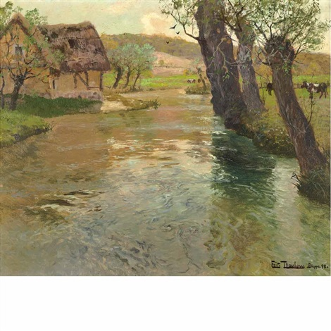 river arques dieppe by frits thaulow