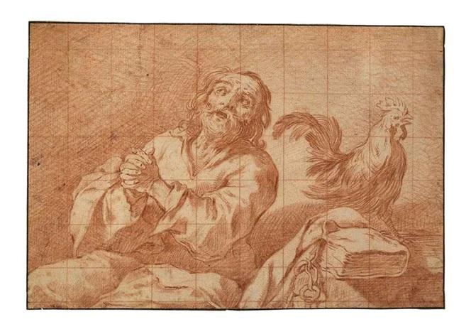 the penitent saint peter by claude vignon