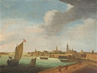 view of amsterdam by reinier nooms