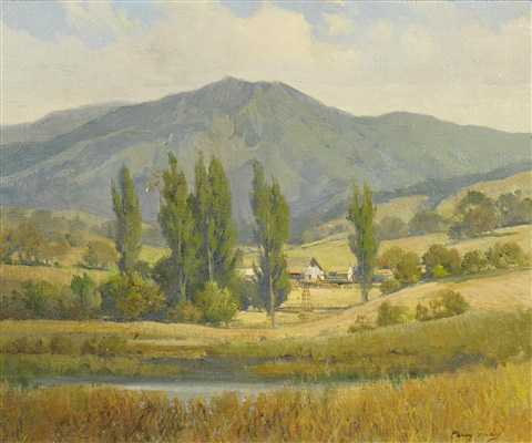 farm beneath mt tamalpais by percy gray