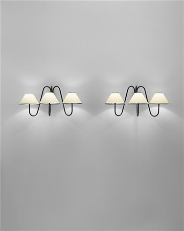 three armed bouquet wall lights a pair by jean royère