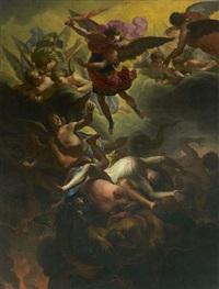 saint michel terrassant les anges rebelles by antoine rivalz