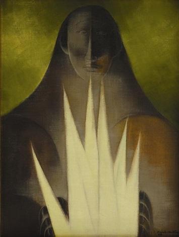 mujer con espigas by ricardo martínez