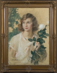 white rose by teodor axentowicz