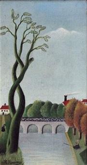 le pont by henri rousseau