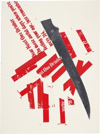 untitled (ketel 1 knife painting) by kelley walker and wade guyton