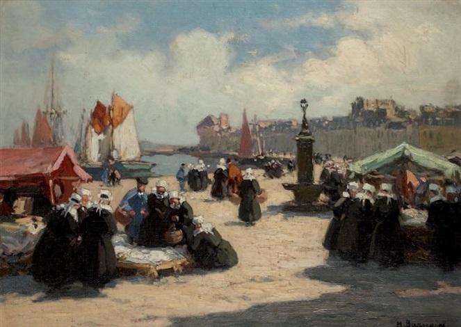 le marché à concarneau by henri alphonse barnoin