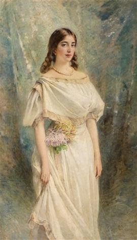 portrait of olga the artists daughter by konstantin egorovich makovsky