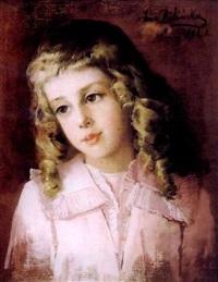 fillette aux cheveux blonds by anna bilinska-bohdanowicz
