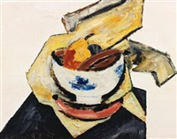 still life with white bowl by marsden hartley