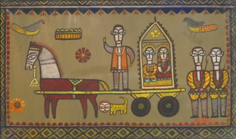 untitled tonga by jamini roy