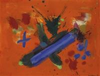 glorious blue x by hans hofmann