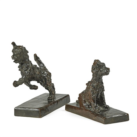 dog bookends 2 works by edith barretto stevens parsons