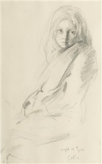 study of a young girl by william nicholson