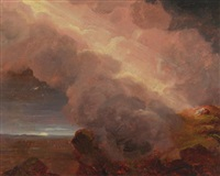 clouds on the mountaintop by thomas cole
