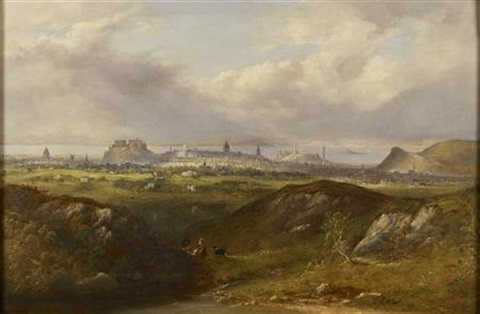 a panoramic view of edinburgh from the south east by henry g duguid