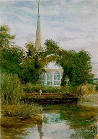 stratford-upon-avon by john william inchbold