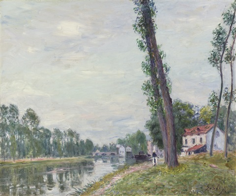 les bords du loing by alfred sisley