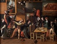 scène de cabaret by jan van (brunswich monogrammist) amstel
